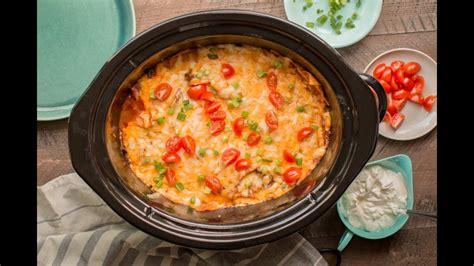 easy  fabulous crock pot beef enchilada casserole