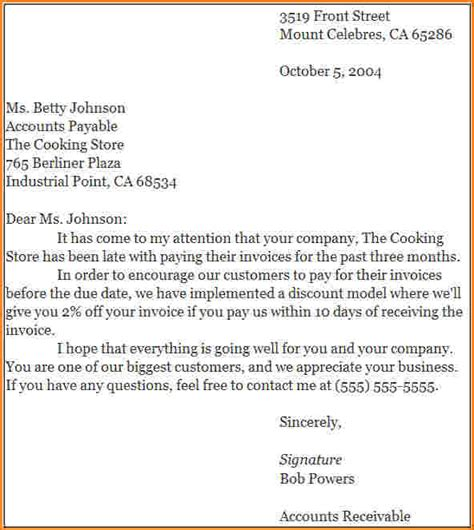 application letter sample modified block style business