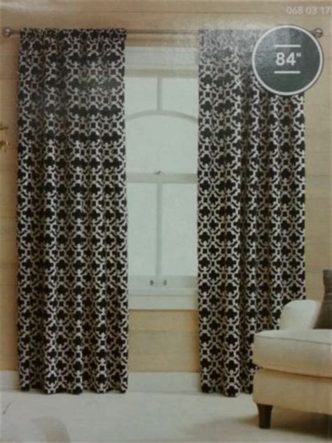 Black And White Drapes At Target - target threshold curtains black and white
