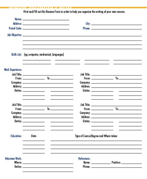 Sle Printable Resume by 35 Resume Templates Pdf Doc Free Premium Templates