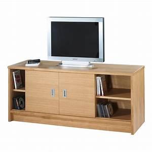 Meuble Chene Clair : meuble tv 2 portes coulissantes 1 tiroir plaqu ch ne clair ~ Edinachiropracticcenter.com Idées de Décoration