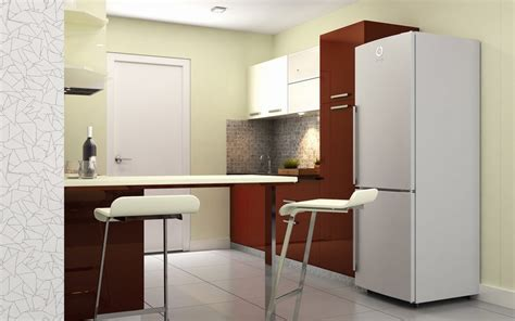buy heron modern parallel kitchen homelane india