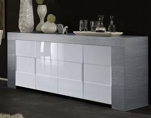 Bahut Bois Blanc : buffet gris et blanc maison design ~ Teatrodelosmanantiales.com Idées de Décoration