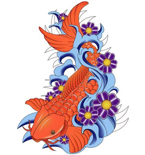 japanese koi fish vector art