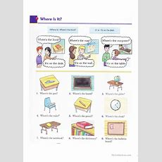 Where Is It? Worksheet  Free Esl Projectable Worksheets Made By Teachers
