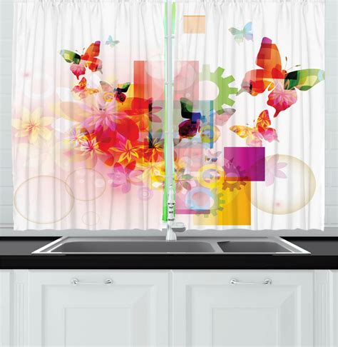 modern contemporary kitchen curtains  panel set window