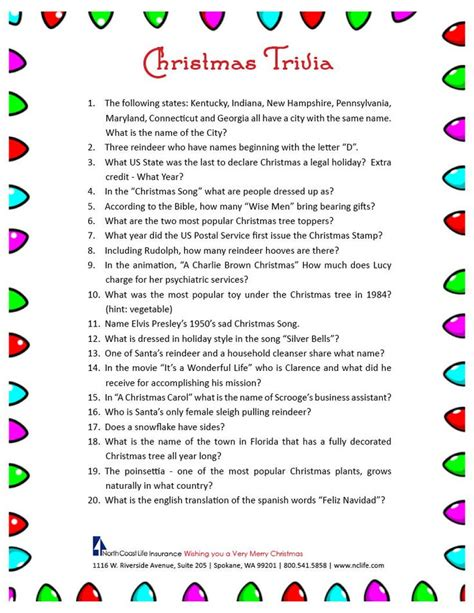 25 best ideas about christmas trivia on pinterest christmas trivia questions christmas