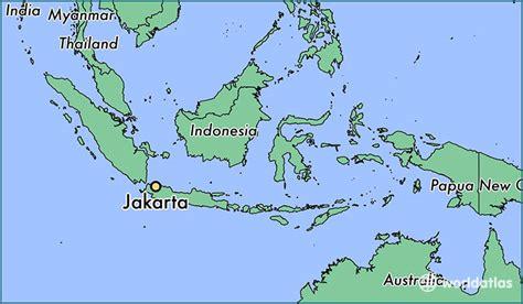 jakarta indonesia jakarta jakarta raya map