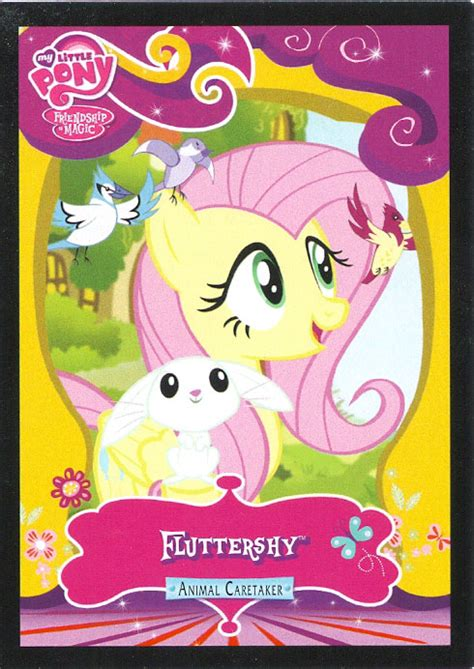 mlp fluttershy animal caretaker trading cards mlp merch