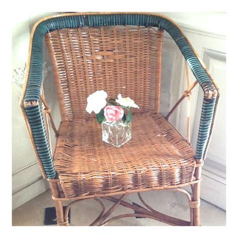 fauteuil de jardin ancien en osier et en rotin
