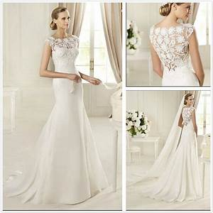 China new design lace and satin wedding dresses t10294 for Satin lace wedding dress