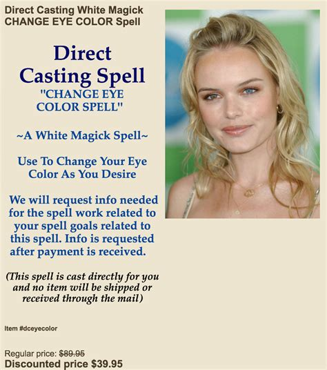 change eye color spell the weirdest products in the world