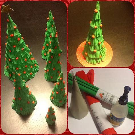 193 rboles de navidad de papel hecho con papel crep 233 o