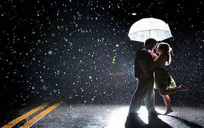 Rain Wallpapers Couple Romantic Rainy Street Romance