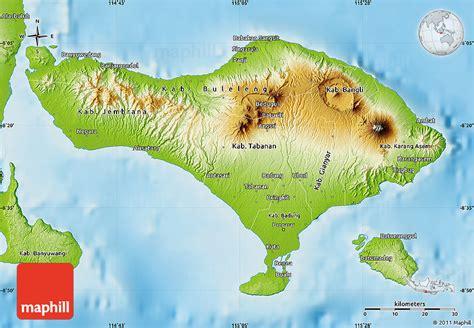 physical map  bali