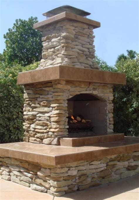 Outdoor Fireplace Kit  Contractor Series  For Easy
