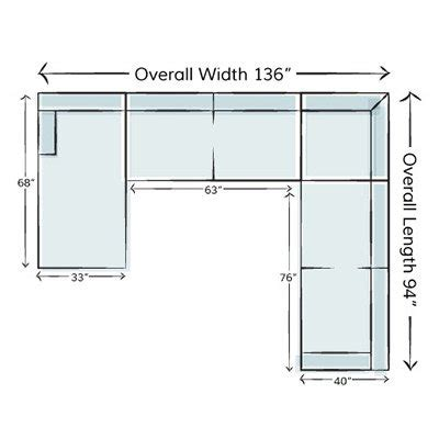 Sectional Sofa Sizes by How To Measure For A Sectional Sofa Wayfair