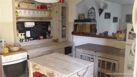 meuble pour ilot central cuisine comment fabriquer un îlot central de cuisine en palettes