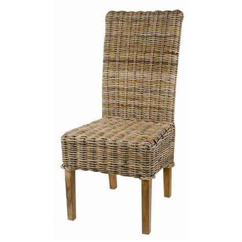 chaise en kubu tressé chaise en kubu tressé galette lot de 2 achat vente