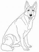 Shepherd German Coloring Printable sketch template