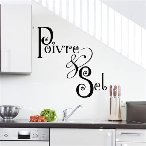stickers muraux cuisine sticker poivre sel stickers cuisine nourriture et