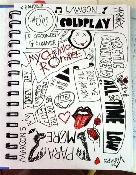 band doodles doodles pinterest band  doodles