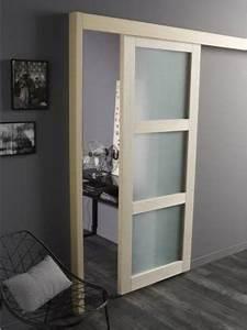 comment choisir sa porte coulissante leroy merlin With porte de garage coulissante avec porte coulissante vitrée intérieure