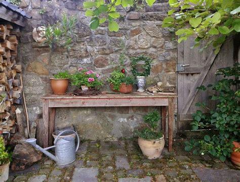 el jardin rustico el campo en casa plantas