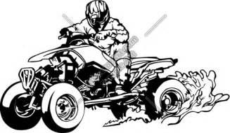 Free Vector Clip Art ATV 4 Wheelers