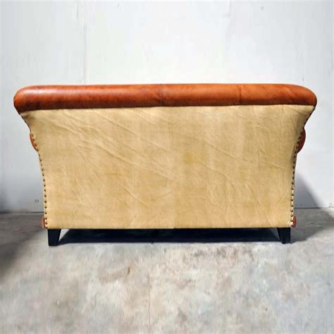 Aged Leather Sofa by Charleston Polo Aged Leather 3 Seater Sofa