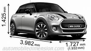 Longueur Mini Cooper : dimensions des voitures mini longueur x largeur x hauteur ~ Maxctalentgroup.com Avis de Voitures