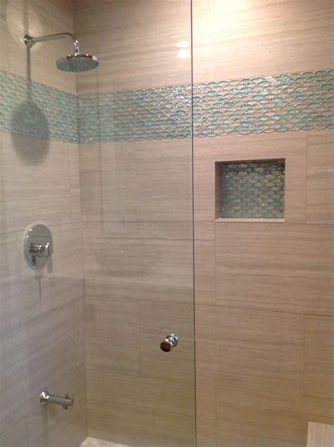 aqua  clear oval glass tile bathroom accent modern home