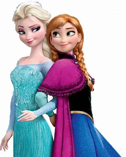 Clipart Frozen Sisters Elsa Anna Transparent Background