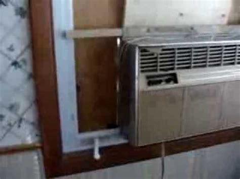 crank window air conditioner install youtube