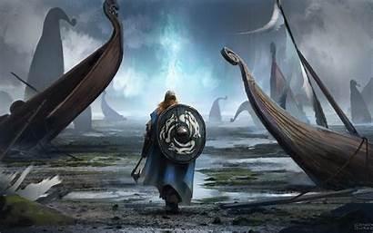 Viking Warrior Shield Fantasy Resolution Wallpapers 4k