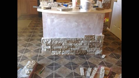 kitchen island airstone project march    youtube