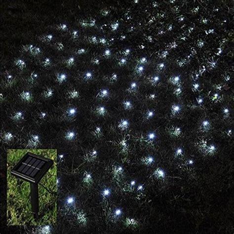 babz 174 105 led outdoor net fairy lights solar powered