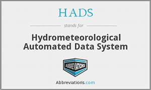 HADS - Hydrometeorological Automated Data System