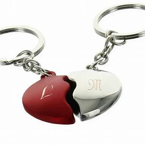 Porte Clé Coeur : porte cl s coeur bicolore s cable grav initiales amikado ~ Teatrodelosmanantiales.com Idées de Décoration