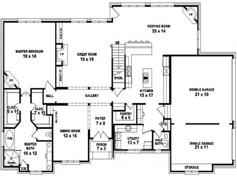 4 bedroom floor plans 2 4 bedroom 2 house plans split bedroom 2 5