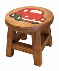 children s stools Children's Wooden Step or Stool Red Car Design Personalised | County Engraving