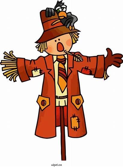 Scarecrow Cartoon Thanksgiving Holidays Transparent Clipart Clip