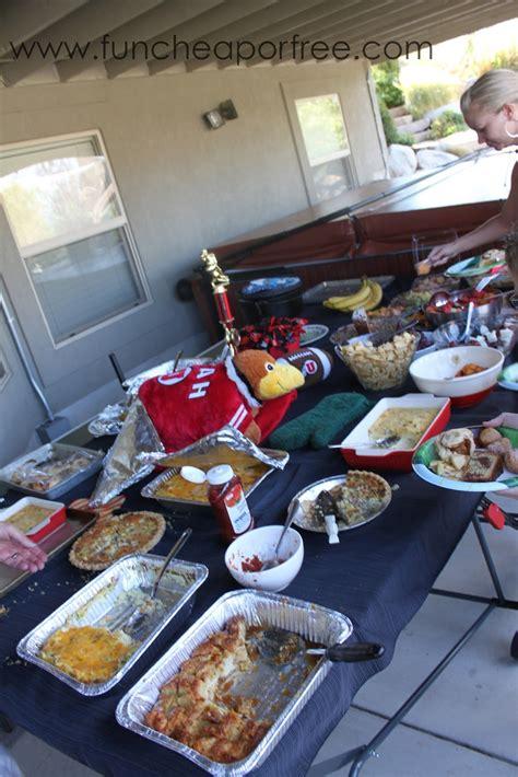ideas   fun cheap   football party superbowl