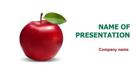 healthy apple powerpoint template