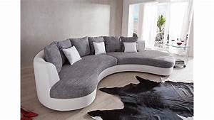 Couch Weiß Grau : wohnlandschaft limoncello sofa polsterm bel in wei grau ~ Watch28wear.com Haus und Dekorationen