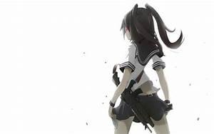 Red, Eyes, Original, Characters, Anime, Anime, Girls, Gun, School, Uniform, Hd, Wallpapers, Desktop