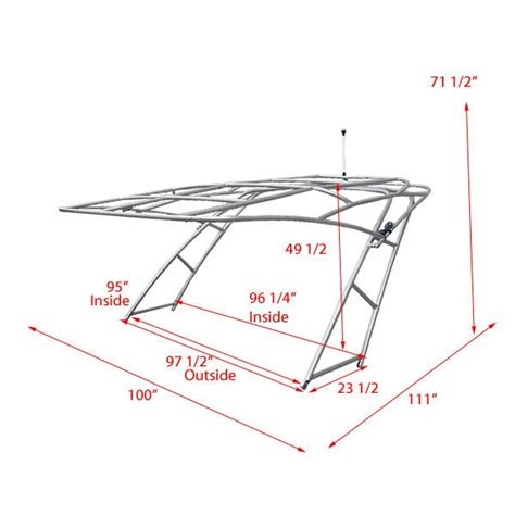 Boat Tower Hinges by Godfrey Aluminum Boat Wakeboard Tower Folding Canopy Ebay