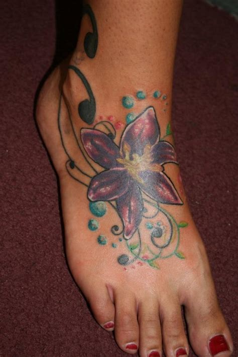 unique lily cover  tattoos