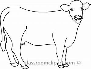 Beef clipart cow outline - Pencil and in color beef ...