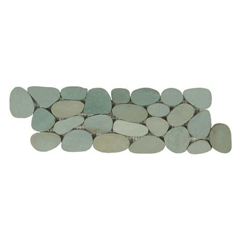sliced pebble tile border sliced pebble border sea green maniscalco